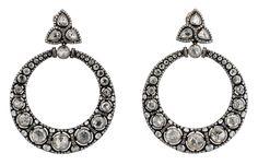 Gilan- rosecut diamond hoops