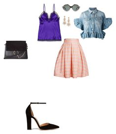 """Untitled #2764"" by anamaria-zgimbau ❤ liked on Polyvore featuring Eres, MSGM, Rumour London, Gianvito Rossi, Chloé, Gucci and Kate Spade"