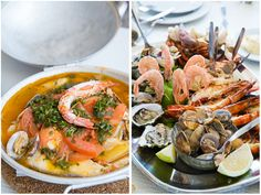 Portugal...Our seafood feast at Marisqueira Rui in Silves.  All seafood was from the local shores except the crabs.