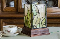 Stained Glass Tiffany Lamp by TracussStainedGlass on Etsy