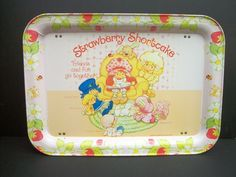 Vtg Strawberry Shortcake Lap TV Tray 1981 Very Nice Condition Folding Legs Metal Tv Trays, Vintage Tv Trays, Vintage Strawberry Shortcake Dolls, Cabbage Patch, Good Ole, My Memory, Childhood Memories, Lunch Box, Conditioner