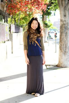modest fashion blogger, modest style blogger, california, .. I love the length of the skirt! I can never find them long enough!