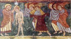 Museo Diocesano de Jaca. Pintura procedente de la iglesia de los santos Julián y Basilisa de Bagüés (Zaragoza). S. XII.