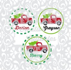 Winter Holiday Christmas Vintage Truck designs for use with Silhouette or other craft cutters (.svg/.dxf/.eps) - pinned by pin4etsy.com