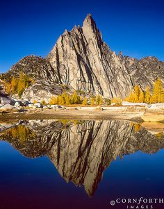 ✯ Prusik Peak Reflection - Wenatchee National Forest - Washington