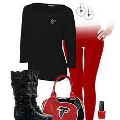 Atlanta Falcons Leggings Outfit-That Bag Falcons Football, Football Girls, Falcons Gear, Sports Women, Sports Lady, Atlanta Falcons Rise Up, Sport Outfits, Cute Outfits, Team Wear