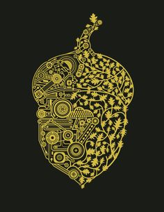 Intricate acorn: machine vs. organic