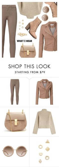 """""""What to Wear"""" by dressedbyrose ❤ liked on Polyvore featuring L'Agence, IRO, Chloé, Rosetta Getty, Alice + Olivia, Shashi, ootd, WhatToWear and polyvoreeditorial"""