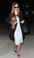 Miranda Kerr in Givenchy coat out in New York