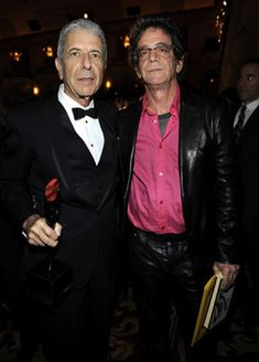 Leonard and Lou. Cohen and Reed. Poets of song.