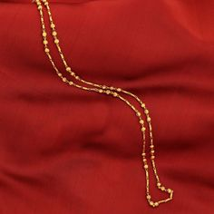 18k Gold Plated Indian Tradition Ethnic  Women Beaded Necklace Bollywood Chain #DesaiJewellers #Chain