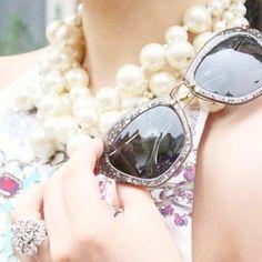 Miu Miu Glitter Sunglasses | Spotted on agirlastyle