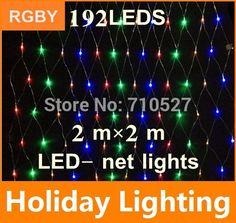 New 2m*2m led net string light christmas outdoor decoration 110V  220V 192leds Holiday Garden Decoration Lighting free shipping #Affiliate