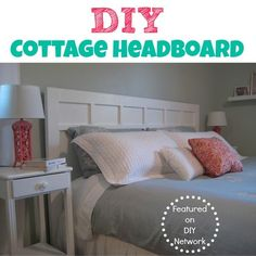 Homemade Headboards this headboard is one of my favorite cottage style decorating