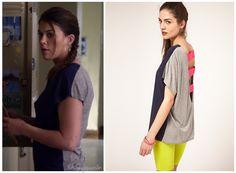 Season 3 Episode 12 Paige's Two Tone, Pink Back T Shirt