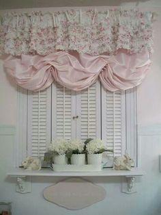 Window Treatment Cute way to fluff up a peekaboo kitchen :)