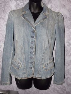Ralph Lauren Polo Jean Company Princess Jean Jacket Vintage Woman's  Medium  #RalphLaurenPolo #PrincessCutDenim