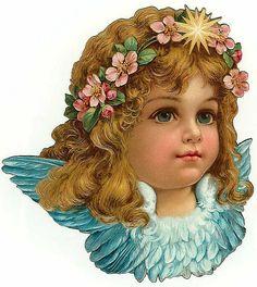 sweet angel 2 - Vintage cut out scraps