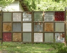 Look! Two Awesome Recycled Fences