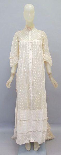 Late 19th Century Dressing Gown  Culture: American or European  Medium: cotton