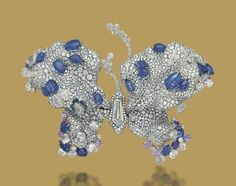 A recently sold butterfly brooch from Cindy Chao at Christie's Geneva in November 2012 – A SAPPHIRE AND DIAMOND 'TRANSCENDENCE' BUTTERFLY BROOCH, BY CINDY CHAO THE ART JEWEL