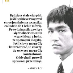 Spójrz z boku i nie daj się kontrolować. Yoga Quotes, Motivational Quotes, Bob Marley, Swimming Motivation, Bruce Lee Quotes, Ways To Be Happier, Unique Quotes, Inspirational Thoughts, True Quotes