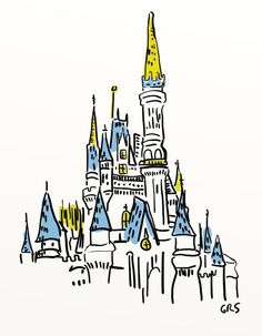 @Meredithvalentine - this would make an awesome Tattoo and if I wasn't a chicken (and also cheap) I would get it! Disney Castle