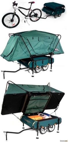 Mountain bike pop-up camper | I want this, would good for that cross country ride that I dream about doing.