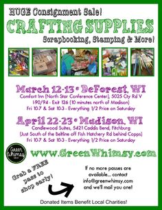 Spring 2016 Sales | 2016 Green Whimsy Consignment Sales ...