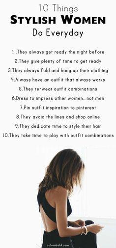 30 Ways to Always Look Stylish Everyday! How to look stylish. Fashion tips