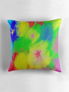 Spring is coming! by Silvia Ganora - #pillows #throwpillows  #abstract #redbubble
