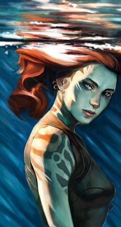 Female Water Genasi Barbarian, Bard, Cleric, Druid, Fighter, Ranger, Rogue, Warlock
