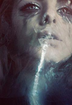 Claustrophobia Self-Portrait  by Lara Jade