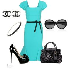 Tiffany Blue Dress, created by photogirl01 on Polyvore