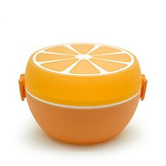 Keythemelife Cute Orange Fruit Food Container bento Lunch boxs Kids fruit Snack Bento Microwave Lunchbox E0. Click visit to buy #dinnerware