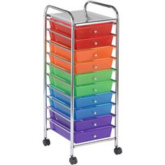 ECR4Kids 10-Drawer Mobile Organizer, Multi-Colored  $45.00