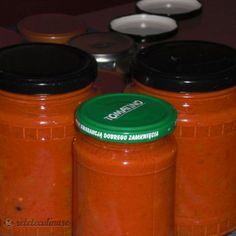 Reteta Sos Napoletan, Conservat Pentru Iarna Pickling Cucumbers, Embroidery On Clothes, Yummy Food, Tasty, Drink Bottles, Preserves, Pickles, Food And Drink, Cooking Recipes