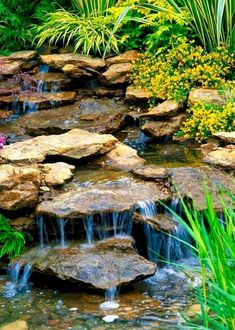 Diy Water Feature, Backyard Water Feature, Small Water Features, Water Features In The Garden, Small Backyard Ponds, Backyard Waterfalls, Pond Landscaping, Land Scape, Pond Ideas