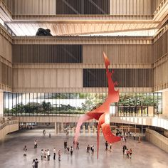 mecanoo's proposal for bao'an public culture and art center in shenzhen - Театр - Materials And Structures, Proposal Photos, Cultural Center, Exhibition Space, Zaha Hadid, Urban Planning, Shenzhen, Atrium, Public Art