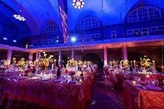 Photo by Maloman Studios Ellis Island wedding reception glam