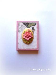 """Réservé Y.D. Mini toile décorative série """" Songes de fleurs """" n°57 : Accessoires de maison par jademiel-etincelles"""