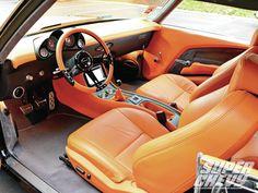 1970 Chevrolet Chevelle Ss Interior Photo 6 custom dash and console door panels brown orange