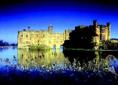 Leeds Castle, rising from a lake, has been called 'the loveliest castle in the world'. It was the dower palace of six medieval queens of England. (Great Queens 2015)