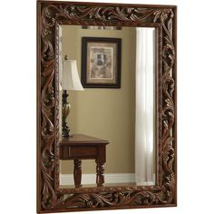 """Brown Traditional Wall Mirror - 33""""W x 45""""H $301.00"""