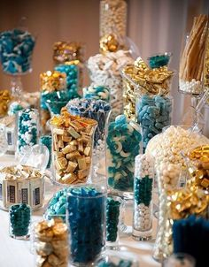 A candy bar is a great idea for any wedding because every guest can choose sweets according to his or her taste, you can continue the wedding decor ...