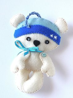 Polar Bear Christmas Ornament PDF Sewing by LittleThingsToShare