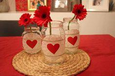Centros de mesa para una boda en San Valentín