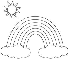 rainbow coloring pages for kids printable 01 - Rainbow Coloring Pages For Kids Printable
