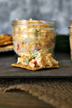 Pimento cheese has been a Southern staple for a long time, slathered on white bread and cut into quarters for baby showers, wedding teas, etc. Finger Food Appetizers, Appetizer Dips, Yummy Appetizers, Appetizer Recipes, Snack Recipes, Cooking Recipes, Party Appetizers, Detox Recipes, Dip Recipes