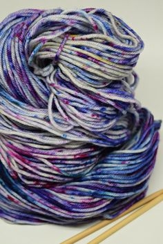 Colorway: Sweet Violet Hand Dyed by Christina 100% Superwash Merino Wool 231 yards / 100 grams DK Weight 5-6 sts / inch on #4-6 needles
